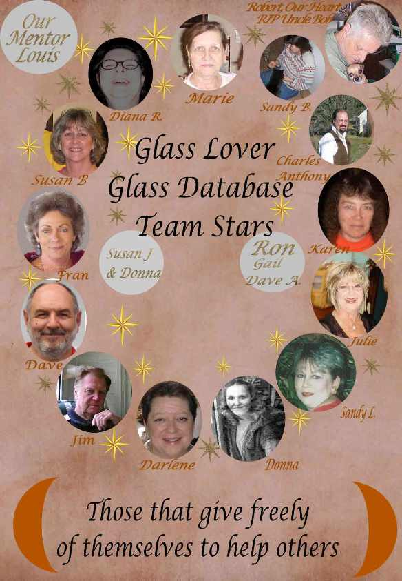 Glass Lovers Glass Database's Team Stars